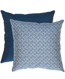 "Printed & Solid 20"" x 20"" Outdoor Decorative Pillow 2-Pack"