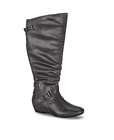 Pabla Wide Calf Tall Shaft Women's Wedge Boot