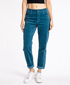 Women's High Rise Corduroy Mom Jeans