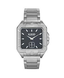 Men's Teatro Silver Tone Stainless Steel Bracelet Watch 49mm