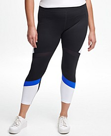 Plus Size High-Waisted Colorblocked 7/8 Tights
