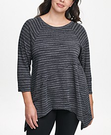 Plus Size Striped Tunic