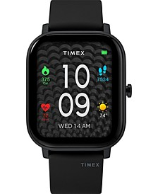 Unisex Metropolitan S Black Silicone Strap Amoled Touchscreen Smart Watch with GPS Heart Rate 36mm