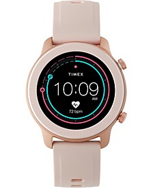 Women's Metropolitan R Blush Silicone Strap Amoled Touchscreen Smart Watch with GPS Heart Rate 42mm