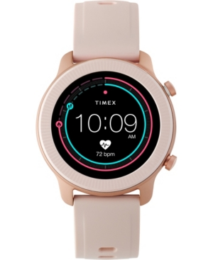 Timex-Womens-Metropolitan-R-Blush-Silicone-Strap-Amoled-Touchscreen-Smart-Watch-with-Gps-Heart-Rate-42mm