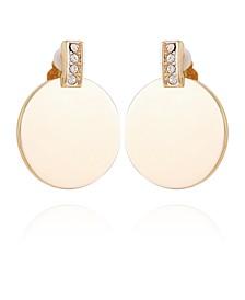 Women's Summer Chic Button Clip Earring