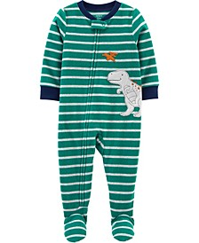 Big Boy 1-Piece Dinosaur Fleece Footie PJs