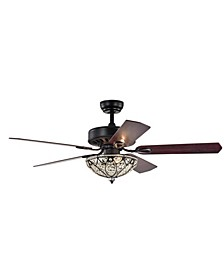 """Lanette 52"""" 3-Light Indoor Remote Controlled Ceiling Fan with Light Kit"""