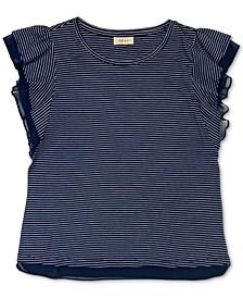 Striped Ruffle-Sleeve Top, Created for Macy's