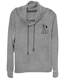 Women's 101 Dalmatians Patch Line Fleece Cowl Neck Sweatshirt
