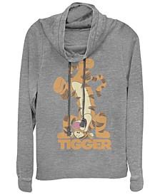 Women's Winnie the Pooh Tigger Bounce Fleece Cowl Neck Sweatshirt