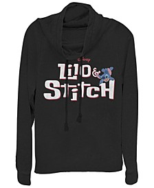 Women's Disney Lilo Stitch Logo Fleece Cowl Neck Sweatshirt
