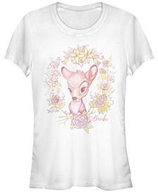 Women's Bambi Watercolor Floral Short Sleeve T-shirt