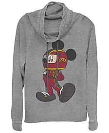 Women's Disney Mickey Classic Mickey Racecar Fleece Cowl Neck Sweatshirt
