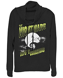 Women's Nightmare Before Christmas Spooky Nightmare Fleece Cowl Neck Sweatshirt