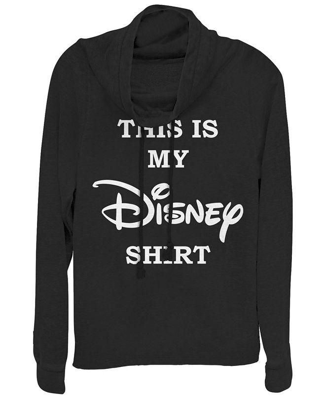 Fifth Sun Women's Disney Logo My Disney Shirt Fleece Cowl Neck Sweatshirt