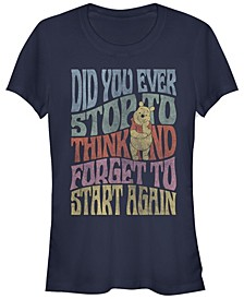 Women's Winnie the Pooh Did You Ever Short Sleeve T-shirt