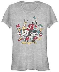 Women's Disney Mickey Classic Holiday Group Short Sleeve T-shirt