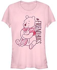 Women's Winnie the Pooh Piglet Pooh Hugs Short Sleeve T-shirt