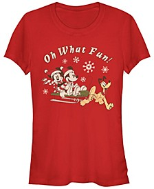Women's Disney Mickey Classic Sled Dog Group Short Sleeve T-shirt