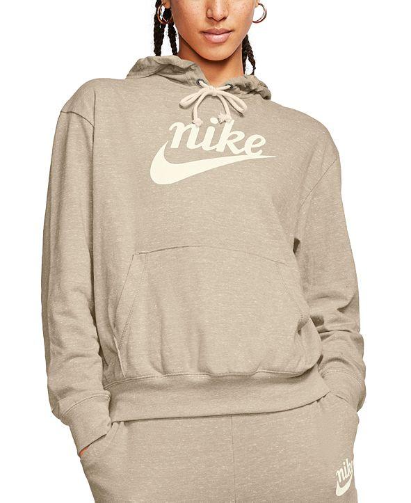 Nike Women's Sportswear Gym Vintage Logo Hoodie