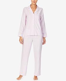 Brushed-Twill Pajama Set