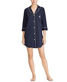 로렌 랄프로렌 슬립셔츠 Lauren Ralph Lauren Knit Notch Collar Cotton Sleep Shirt