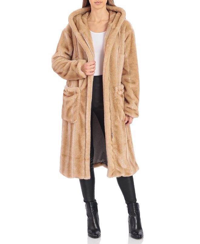 Avec Les Filles Faux-Fur Hoodie Coat