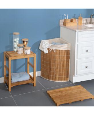 Wicker Corner Laundry Hamper