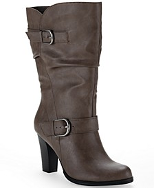 Sachi Block-Heel Mid-Shaft Boots, Created for Macy's