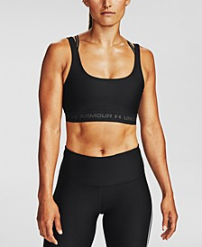 Women's Compression Cross-Back Mid-Impact Sports Bra