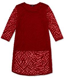 Zebra-Print Burnout Layered Tunic, Created for Macy's
