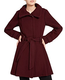 Juniors' Asymmetrical Belted Wrap Coat, Created for Macy's
