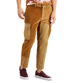 Men's Harry Relaxed-Fit Patchwork Pieced Colorblocked Corduroy Cargo Pants