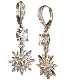 Crystal Star Cluster Drop Earrings