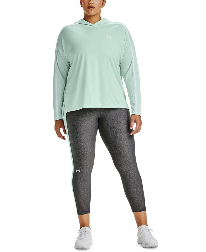 Under Armour - Plus Size Tech Colorblocked Hoodie Top