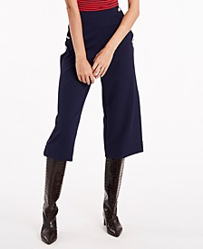 Cassidy Button-Trim Twill Culottes, Created for Macy's