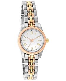 INC Women's Tri-Tone Bracelet Watch 22mm, Created for Macy's