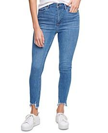 Destroyed-Hem Jeans