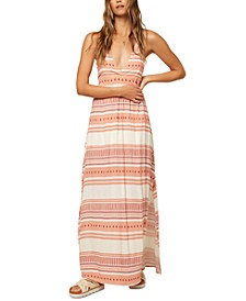 Juniors' Savanah Halter-Neck Maxi Dress
