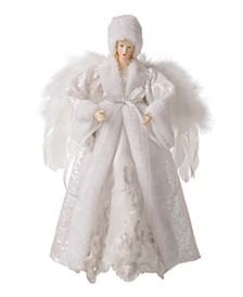 Faux Fur Christmas Angel Tree Top