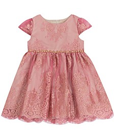 Baby Girls Foil Lace Dress