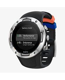 Suunto 5 Men's Black Steel Compact Silicon Strap GPS Sports Watch, 46mm
