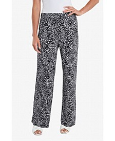 Women's Iced Leopard Pull On Pants