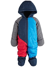 Baby Boys Colorblock Snowsuit, Created for Macy's