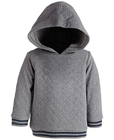 Baby Boys Herringbone Quilted Hoodie, Created for Macy's