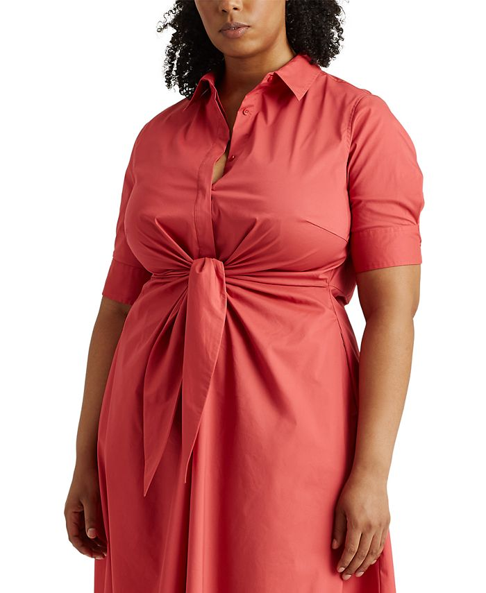 Lauren Ralph Lauren - Plus Size Fit-And-Flare Shirtdress