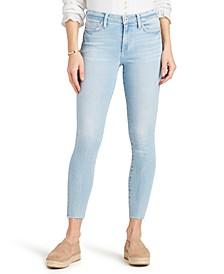 Raw-Hem Skinny Jeans