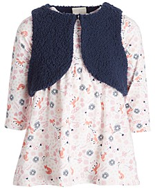 Baby Girls Vest Dress Set, Created for Macy's
