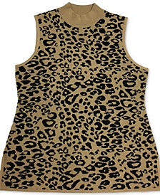 Sleeveless Animal-Print Sweater, Created for Macy's